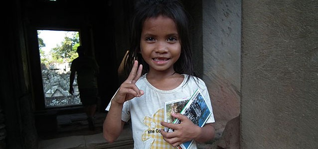 Khmer girl in Cambodia