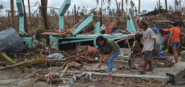 Typhoon Haiyan Destruction in the Philippines