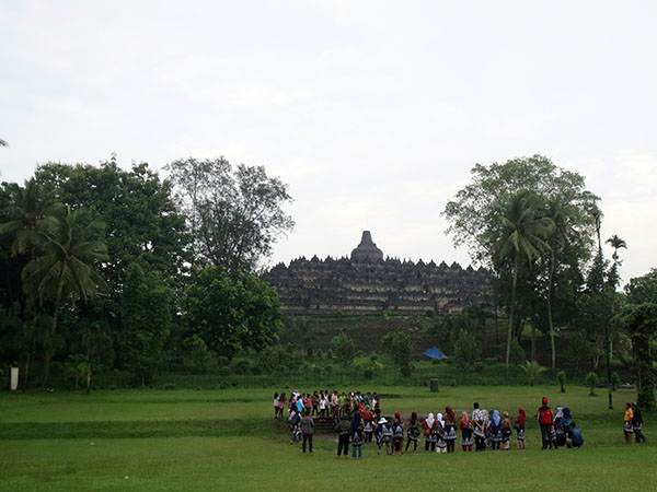 Borobudur from afar