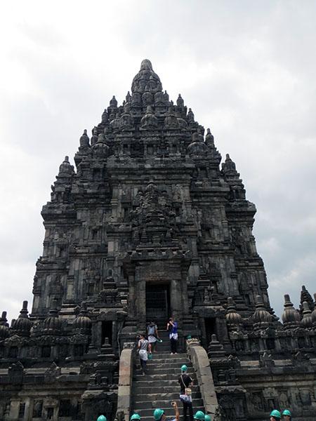 Hardhats at Prambanan Temple, Yogyakarta