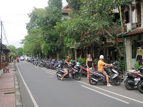 Motorbikes in Ubud