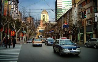 Shanghai China Street Taxis
